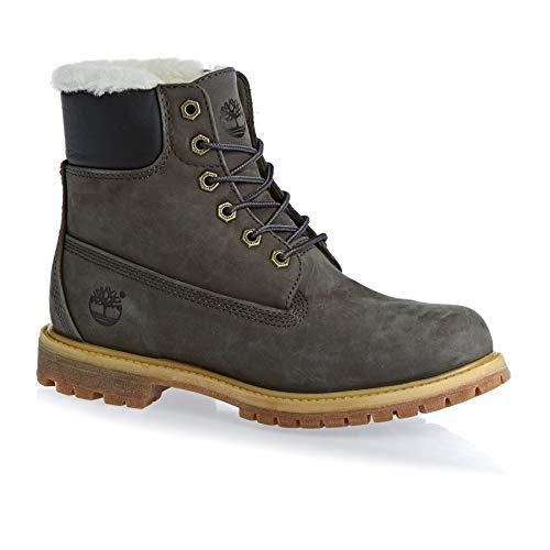 Timberland Damen Boots 6-Inch Premium Shearling grau (231) 38EU (Wanderschuhe Timberland Frauen)
