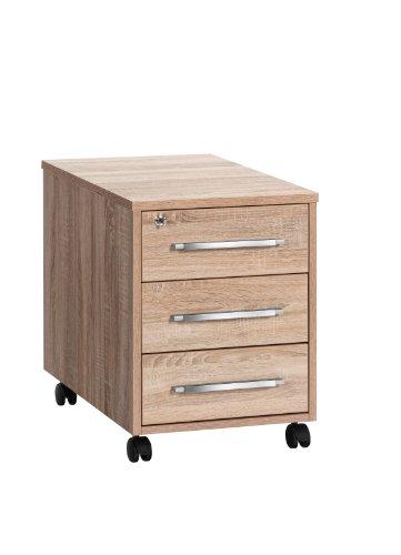 Möbel Sonoma (MAJA-Möbel 1716 5525 Rollcontainer, Sonoma-Eiche-Nachbildung, Abmessungen BxHxT: 43 x 59 x 65 cm)