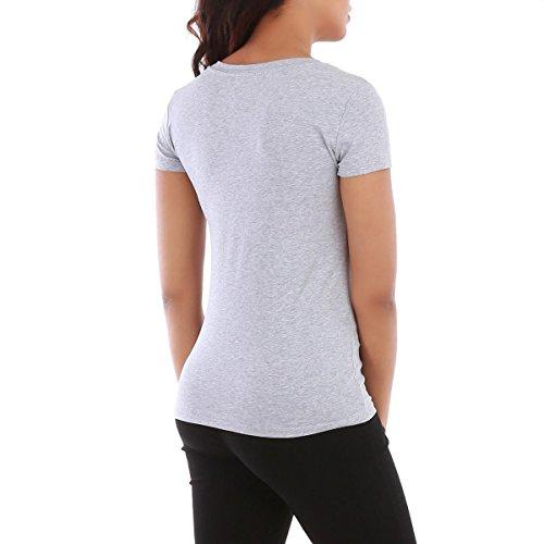 La Modeuse - T-shirt manches courtes Gris