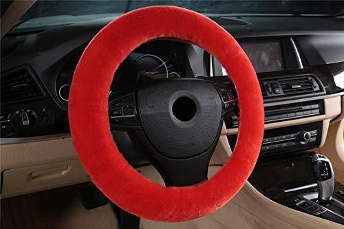 Preisvergleich Produktbild SYXL Auto Griffe Lenkrad Abdeckung Material Handmade Multi-Color Geeignet für Durchmesser 35-43cm (Farbe : K,  größe : Fit 35-43cm)