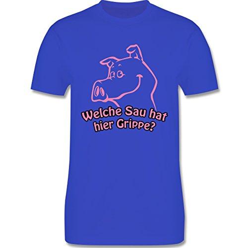 Symbole - Welche Sau hat hier Grippe - Herren Premium T-Shirt Royalblau