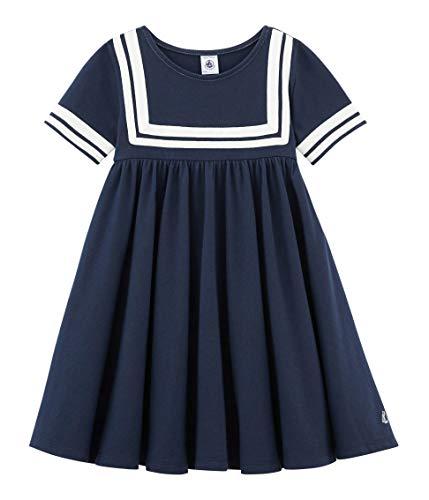Petit Bateau Mädchen Bali Kleid, Blau (Haddock 01), 8 Jahre