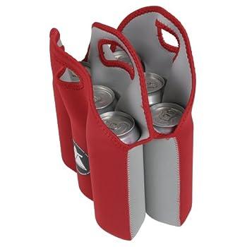 10t Outdoor Equipment 10t Cooler 6 X 500ml Neopren Dosenkühler Flaschenkühler Kühler Getränkekühler Kühltasche Mit Tragegriff 2