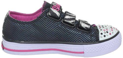 Skechers Shuffles Wild Starlight Mädchen Sneaker Schwarz - Noir (Bksp)