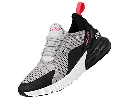 SINOES Damen Fitness Laufschuhe Sportschuhe Schnüren Running Sneaker Netz Gym Schuhe