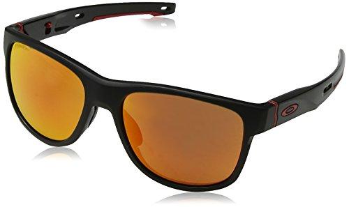 Oakley Herren Crossrange R 935904 Sonnenbrille, Braun (Matte Black), 57