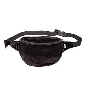 Bauchtasche, samt schwarz, Hipbag, Umhängetasche, fanny pack, cross bag