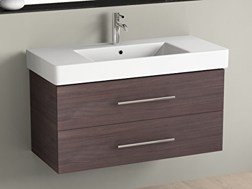Mobile bagno 100 cm con lavabo in ceramica Aqua bagno piazza ...
