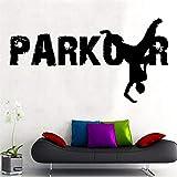Parkour Wandtattoo Street Sports Vinyl Aufkleber Cool Teen Room Home Wandbild Schule Schlafsaal...