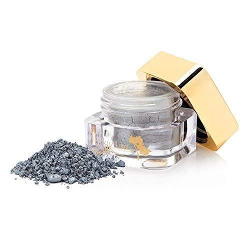 Soie Huile du Marocain Brillance Fard à paupières/brillance Poudre/Minéraux fard à paupières/Yeux Pigment - minéraux Maquillage Enrichie en Organique Huile D'Argan - Silver Crush, 2g