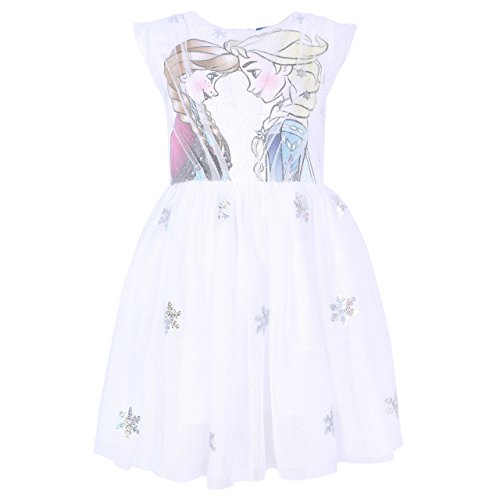 Vestito Ecru Anna Elsa Il Regno di Ghiaccio Disney - 6-7 Anni 122 cm