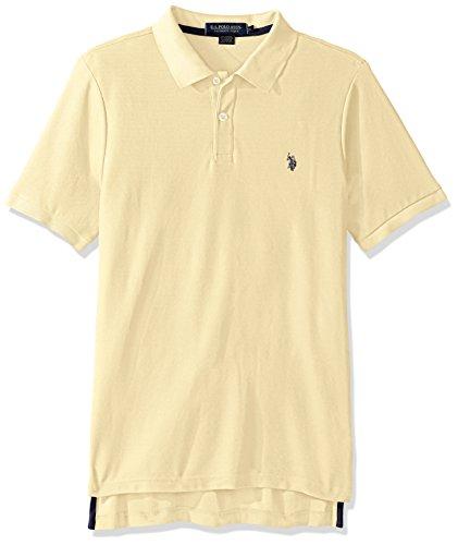 U.S. Polo Assn.. Men's Ultimate Pique Polo, Lemon Frost, L -