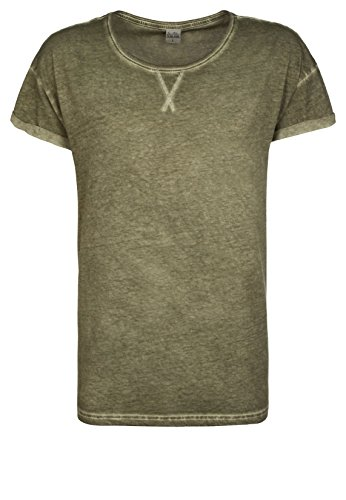Sublevel Herren T-Shirt Basic Vintage middle green