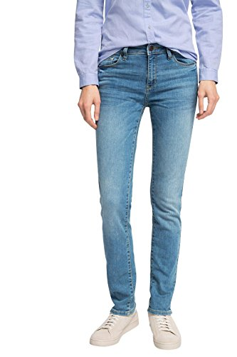 ESPRIT Damen Straight Leg Jeanshose mit geradem Schnitt, Gr. W29/L34, Blau (E MEDIUM BLUE 955) (Pant Poly Modern Fit)