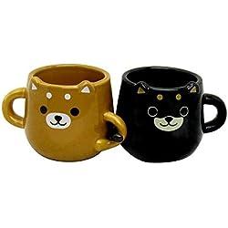 """Shiba perro Pareja """"Nakayoshi"""" Par de té, café, Mug Set 2 tazas de cerámica Copa de Japón LF-0959"""
