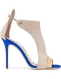 XUE Zapatos de Mujer PU de Verano Confort Sandalias Zapatos para Caminar Tacón de Aguja Puntiagudo Talón Boda/...