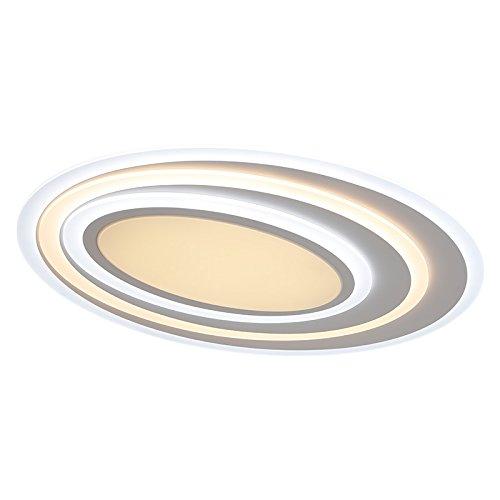Euroton LED Deckenleuchte XW092 WJ mit Fernbedienung Lichtfarbe/Helligkeit einstellbar Acryl-Schirm weiß lackierter Metallrahmen A+