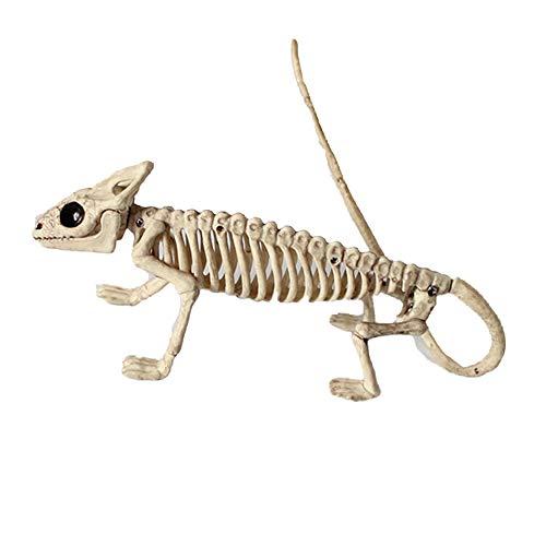 (Lizard Skelett Model Halloween Horror Tierschmuck Haunted Haus Requisiten Dekoration)