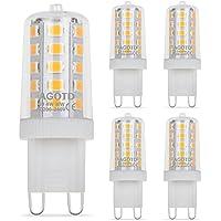 AGOTD G9 LED Lampe,4W,Warmweiß,G9 LED Leuchtmittel Nicht Dimmbar,Ersatz für 28W 33W 40W G9 Halogenlampen,450Lumen,2700K,200-240V AC,16x49mm,360 Grad Winkel,CRI> 82,G9 LED Glühlampe,5er Pack