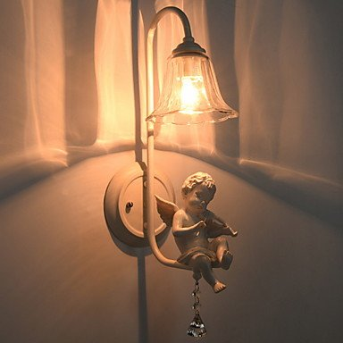 YYHAOGE Protection Des Yeux Vintage Pour Le Salon Metal Wall Light 220V 220V 40W,Blanc,