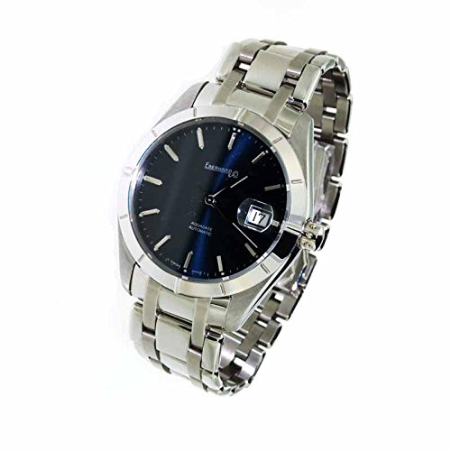 Men Eberhard 41015ca quandrante Blue Strap Stainless Steel Automatic Watch