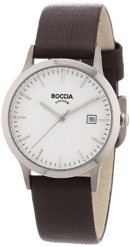 Boccia Ladies Titanium Leather Strap Watch B3180-01
