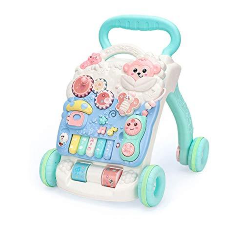 Lauflernhilfe, Multifunktions-Rollover, Trolley für Jungen und Mädchen, Sound Fun Early Education Toy, abnehmbares Lauflernhilfe-Panel B