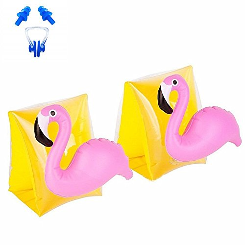 wanxing Kinder Schwimmflügel Soft Armband Baby Schwimmring Nette Schwimmbad Boot Pool für Kinder Strand Wasserspielzeug (20 x 16 x 15 cm) (Flamingo)