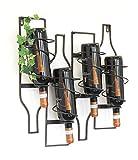 Holzwurm M82 - Mensola da Parete in Metallo per Bottiglie di Vino, 50 cm