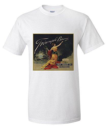 Triumph Brand - California - Citrus Crate Label (Premium T-Shirt) (Crate Label)
