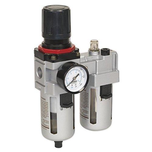 Sealey SA4001 - Filtro de aire para taller, regulador y lubricador