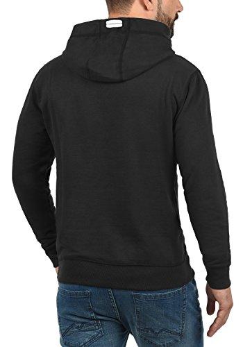 BLEND Vinto White Herren Kapuzenpullover Hoodie Sweatshirt mit Print aus hochwertiger Baumwollmischung Meliert Black (70155)
