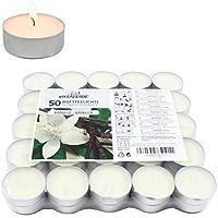 Smart Planet® Lot de 50 bougies chauffe-plat d'ambiance parfumées à la vanille, pour Noël