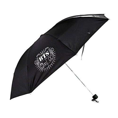 Bosunshine BTS Strong Winddicht Compact Reise Faltbarer Regenschirm, Sonnenschirme, Drei Falten, Licht Gewicht