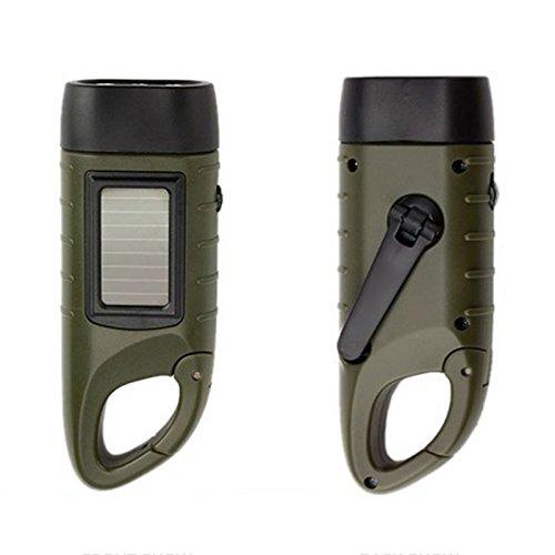 ne Handkurbel Taschenlampe wiederaufladbare LED mit Clip Notlicht fuer Outdoor Camping Bergsteigen ()