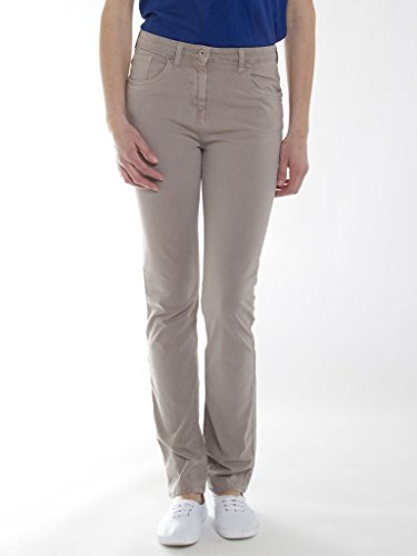 Carrera Jeans - Pantalone 753 753A0942A per donna, modello dritto, tinta unita, tessuto gabardina, vestibilità normale, vita alta 172 - Beige
