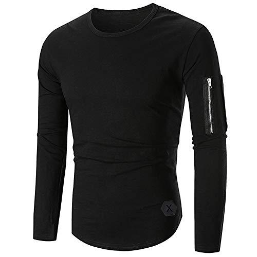 9d9a69faa Men Long Sleeve Tops HEHEM Men s Casual Tops Long-Sleeved Zipper T-Shirt  Solid