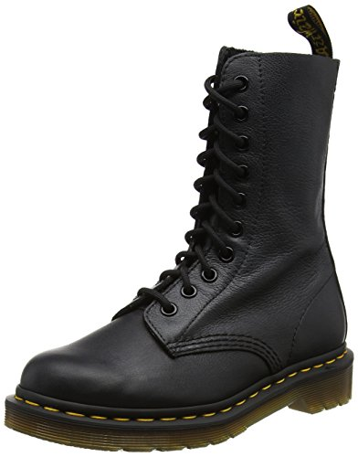 Dr. Martens Damen 1490 Black Virginia Stiefel, Schwarz (Black), 40 EU (Dr. Martens 10 Eye)