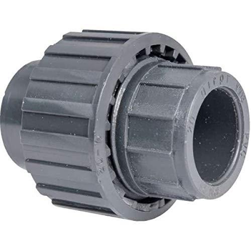 Raccord union PVC pression noir droit - Femelle Ø 20 mm - Girpi