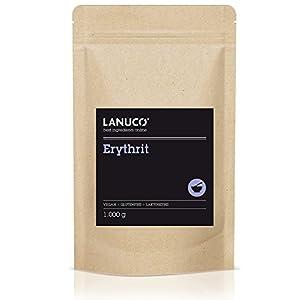 Premium Erythrit – 1kg Erythritol, Zuckeralternative, kalorienfreier Zuckerersatz, Low Carb, Süßungsmittel, vegan, KOSTENLOSER VERSAND