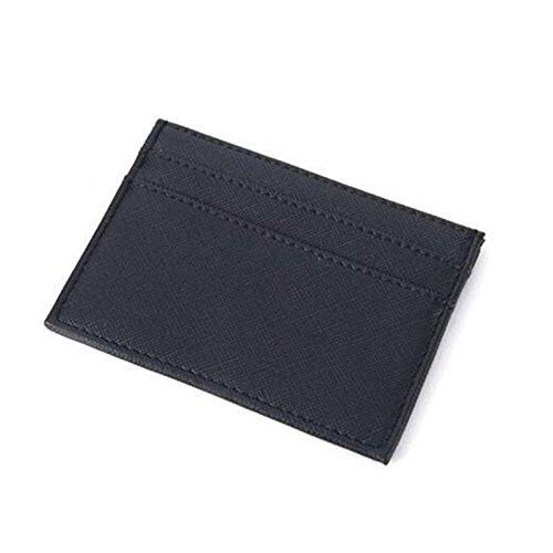 u Leder Kartenhalter Portable Camping Wandern Frauen Mini Pocket Kreditkartenetui - Schwarz ()