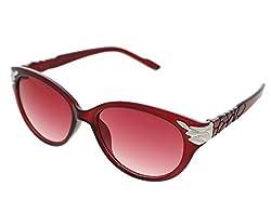 Vast UV Protection Cat Eye Womens Sunglasses (3075RED|56|Grey Lens )