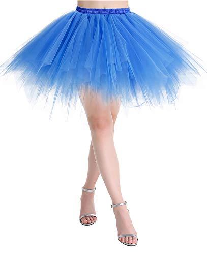 MuaDress LXQ Mini Falda Enagua Mujer Cancan Vintage para Vestido...