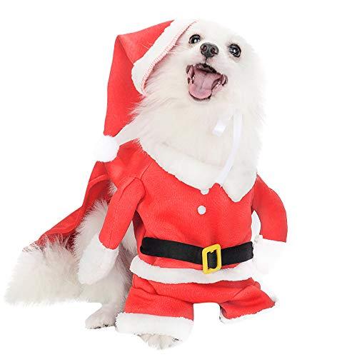 Weihnachten Hunde-Bekleidung, 12shage kleine Hunde Sankt-Hundekostüm Haustier-Mantel Kleidung (XL)