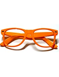 DIE ORIGINAL NERD® Club Brille 100% Original CLEAR (Neon Orange)