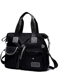 61ec9921ae SODIAL Nero Canvas Bag nuovo modo delle signore impermeabile Oxford Borsa  Casual Nylon Tracolla sacchetto della