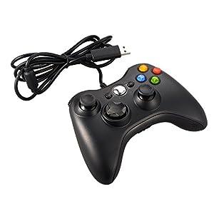 XCSOURCE® Schwarz Wired Spiel Controller Gamepad Joystick für die Xbox 360 AC429
