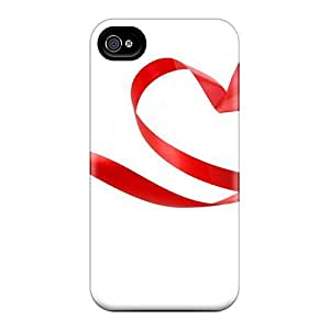 Iphone 4/4s Case Slim [ultra Fit] Heart Love Holidays Protective Case Cover