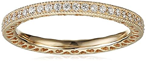 Pandora Damen-Ring Unendliche Herzen 585 Gelbgold Zirkonia weiß Gr. 52 (16.6) - 150181CZ-52