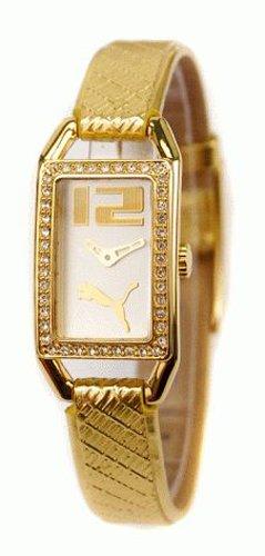 Puma Time PU101672001 - Orologio da polso da donna, cinturino in pelle colore oro